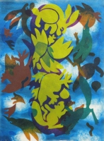 Floating Pillar 2012 acrylic on canvas 32 X 23.5 in.