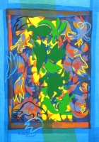 Green Column 2012 acrylic on canvas 44 X 32 in