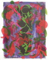 Green Core 2012 acrylic on canvas 32 X 26 in.