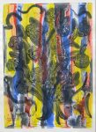 Ancestral Vision 2000  monotype   image size 26  X 37 in. (Family Gallery)
