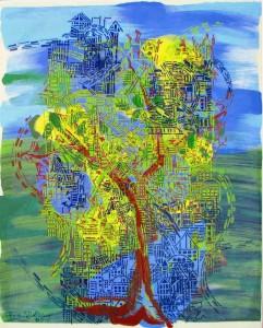Tree City 2008  36.5 X 29.5  acrylic on canvas.jpgs
