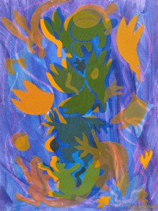 Animal Leaves  2012  acrylic on canvas  31 X 23 in