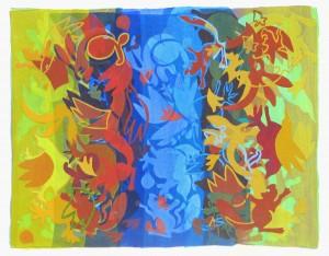 Blue origin 2012   acrylic on canvas  36 X 46 in.