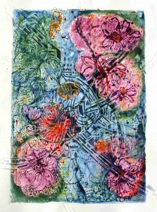 Blossom City 1998 30 X 22.5 watercolour monotype on polymer on paper (2)
