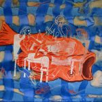 Fish Dinner 2007 watercolour and polymer on paper 22.5 (Diners Gallery)