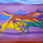 Herd-2010-acrylic-on-paper-22.5-X-30in. (Horses Gallery)