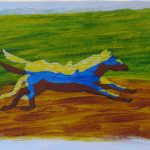 Long-Gallop-2010-acrylic-on-card-7-X-16.5-in. (Horses Gallery)