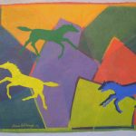 Mountain-Ponies-2010-acrylic-on-canvas-31-X-49.5in. (Horses Gallery)