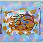 Place setting 2007 41X48 in. acrylic on canvas (Diners Gallery)