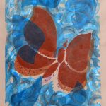 brown-and-blue-2010-acrylic-and-collage-on-canvas-33-x-25in (Butterfly Gallery)