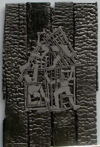dark-renovation-2009-polymer-on-burned-boards-30in-x-22-5 (Builders Gallery)