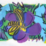 Bee-on-a-Purple-Blossom-2014-acrylic-on-canvas-23-X-31in. (Bees Gallery)